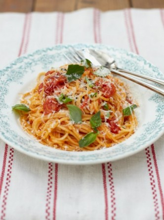 Jamie's tomato spaghetti: one of the favourites of Food Revolution Day